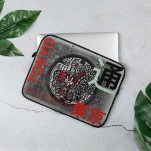 Tokyo style laptop sleeve