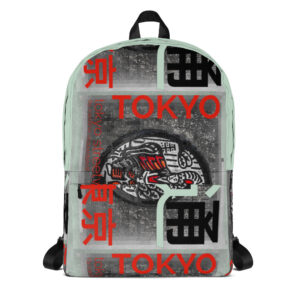 "Stand out from the crowd with this backpack with an with unique ""Tokyo Street Wear"" urban style design inspired by the city streets you walk on."