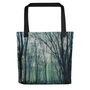 A spacious and trendy tote bag with original trees print to help you carry around everything that matters.