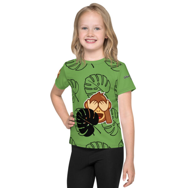 Get the t-shirt for your kids that has a colorful design that looks great and allows your jungle monkey to participate in all of their favorite activities.