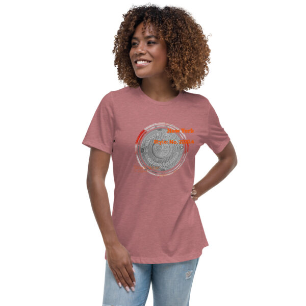 This t-shirt has an urban style design inspired by the NYC city streets you walk on. This is the softest most comfortable women's t-shirt you'll ever own.