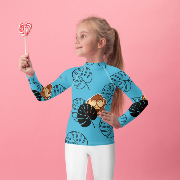 This colorful Active Outdoor Co. for Kids rash guard Jungle Monkey protects the little ones from the elements with its sun-protective fabric.